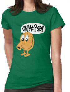 Retro Video Game Qbert T-Shirt Womens Fitted T-Shirt