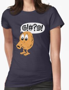 Retro Video Game Qbert T-Shirt Womens Fitted T-Shirt