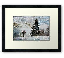 XC Skiing  Framed Print