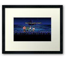 Dov'è la nostra nave? (Monkey Island 1) Framed Print