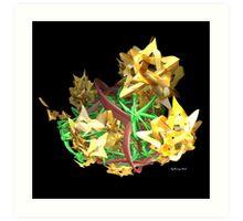 Yellow Stars Art Print