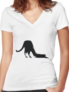 Shoe/Cat Women's Fitted V-Neck T-Shirt