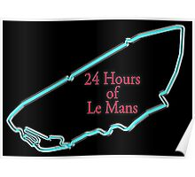 MOTORSPORT, RACE, RACING, LE MANS, 24 Hours of Le Mans. 24 hrs, 24 Heures du Mans, Motorsport, Cars, Race, on black Poster