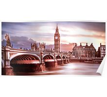 Sunset at london Poster