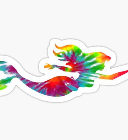 Tie Dye Mermaid Sticker