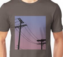 Power Lines: Purple version Unisex T-Shirt