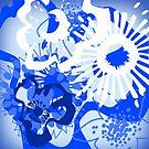 Bursting Blue Colour Splash Floral Version 2 (see description) by Ra12