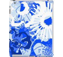 Bursting Blue Colour Splash Floral Version 2 (see description) iPad Case/Skin