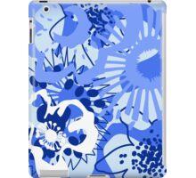 Bursting Blue Colour Splash Floral Version 1 (see description) iPad Case/Skin
