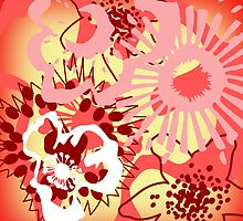 Red Floral Colour Splash Version 1 (see description) by Ra12