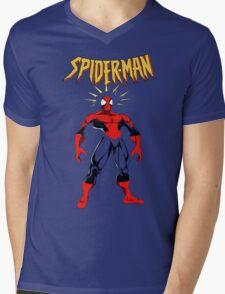 Spiderman Mens V-Neck T-Shirt