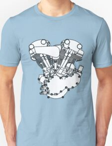 Knucklehead diagram (Black and white) Unisex T-Shirt