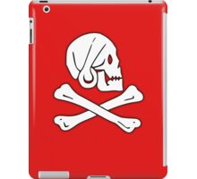 Jolly Roger, Henry Every, PIRATE FLAG, Skull & Crossbones, Pirate, Crew, Buccaneer, White on Red iPad Case/Skin