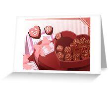 February: Choco and Hearts Greeting Card