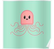 bold kawaii jellyfish Poster