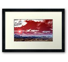 """""""RED PRAYER TO GOD"""" Framed Print"""