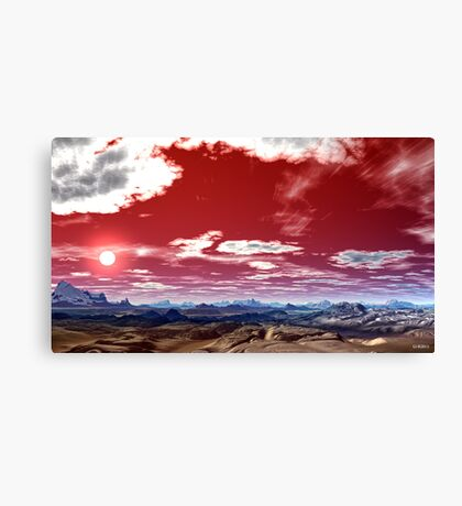 """RED PRAYER TO GOD"" Canvas Print"