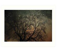 Sparkling tree Art Print
