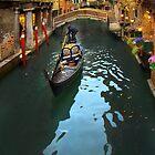 Gondolier In Venice, Italy by Al Bourassa