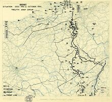 World War II Twelfth Army Group Situation Map October 11 1944 by allhistory