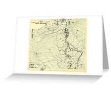 World War II Twelfth Army Group Situation Map October 11 1944 Greeting Card