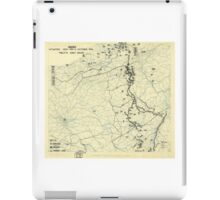 World War II Twelfth Army Group Situation Map October 11 1944 iPad Case/Skin