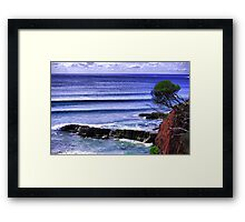 The perfect swell Framed Print