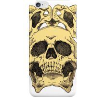Skull with pelvis crown iPhone Case/Skin