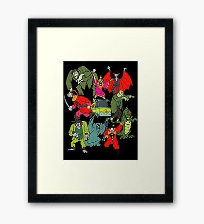 Scooby Doo Villians Framed Print
