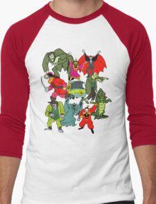 Scooby Doo Villians Men's Baseball ¾ T-Shirt