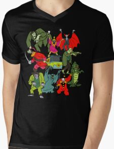 Scooby Doo Villians Mens V-Neck T-Shirt