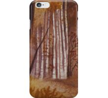Ochre Birch Wood iPhone Case/Skin