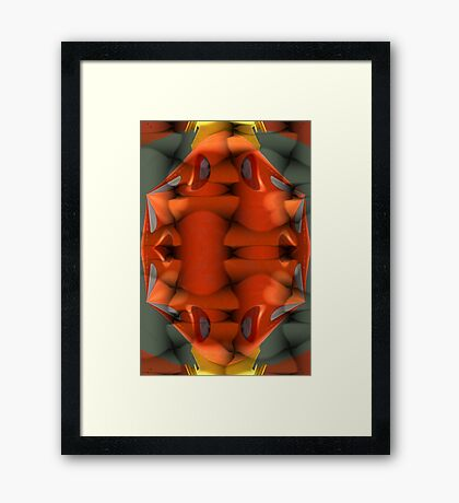 Puzzle Abstract Framed Print