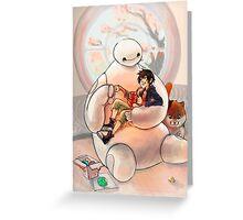 Warm, Baymax and Hiro Greeting Card
