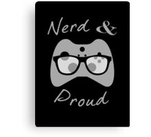 Nerd & Proud (light) Canvas Print