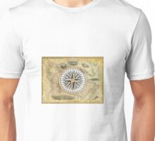 Old Nautical Map Unisex T-Shirt