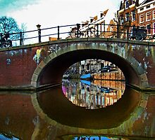 Canals Of Amsterdam V - Painting by Al Bourassa
