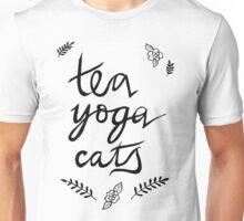 Tea, Yoga, Cats Unisex T-Shirt