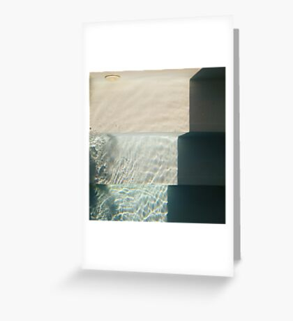 pool steps right Greeting Card