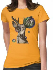 Bubble Stag Womens Fitted T-Shirt