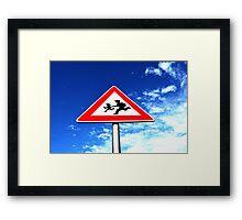 Stop Children Framed Print