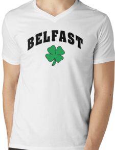 Belfast Irish Mens V-Neck T-Shirt