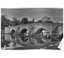 East Farleigh Bridge Poster