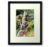 Hestercombe Waterfall Framed Print