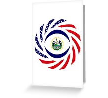 Salvadoran American Multinational Patriot Flag Series Greeting Card