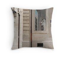 Street scene in Avignon Throw Pillow