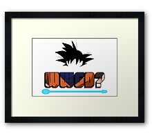 What Would Goku Do? Framed Print
