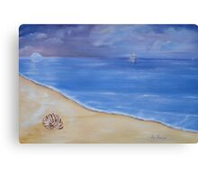 Tranquil, evening sky at the beach. Canvas Print