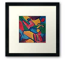 Dancer Breakdancing on one Hand Framed Print
