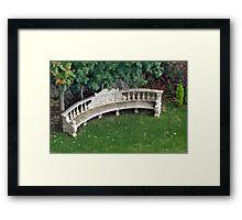 Greenery Bench Framed Print